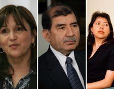 Aspirantes Gloria Porras, Mynor Franco y Flor de María García Villatoro. (Foto Prensa Libre: Hemeroteca PL)