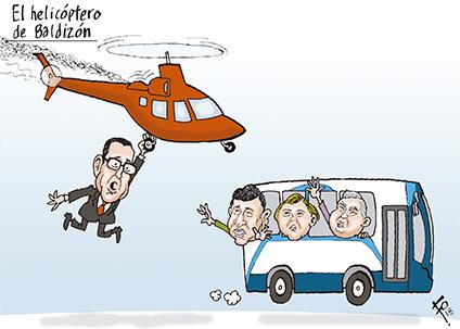 El helicóptero de Baldizón