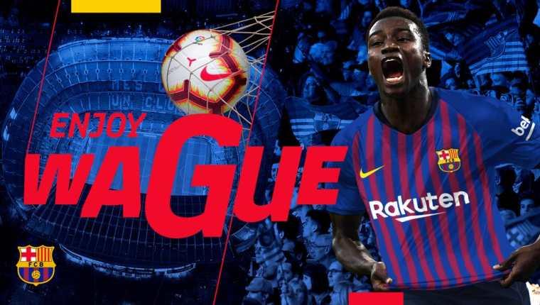 Moussa Wague llamó la atención del Barcelona por su positiva actuación en el Mundial de Rusia con Senegal. (Foto Prensa Libre: FC Barcelona)