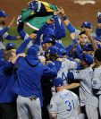 Los Reales se coronaron el pasado domingo después de ganarle la serie a los Mets. (Foto Prensa Libre: AFP)
