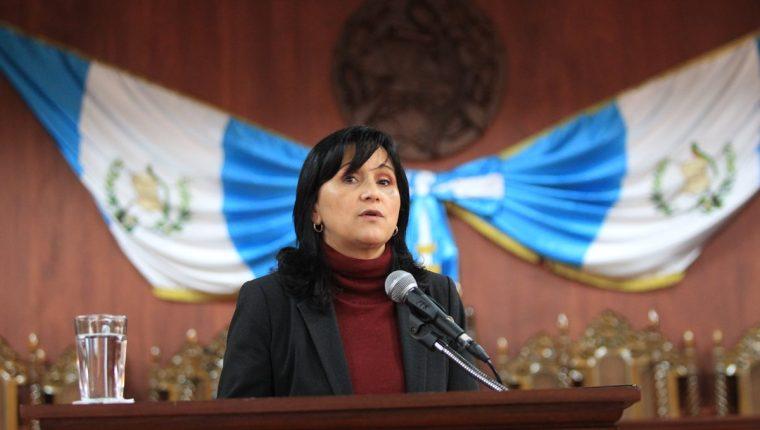 Gloria Porras asumió la presidencia de la Corte de Constitucionalidad en abril del 2020. (Foto Prensa Libre: Hemeroteca PL)