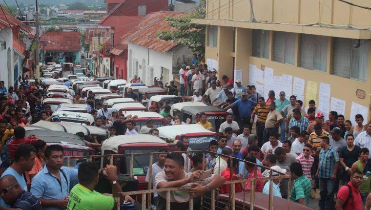 Algunos candidatos dicen que usarán los mototaxis para trasladarse. (Foto Prensa Libre: Hemeroteca PL)