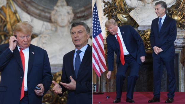 Este no fue el único momento incómodo del día que tuvo como protagonista a Trump. AFP