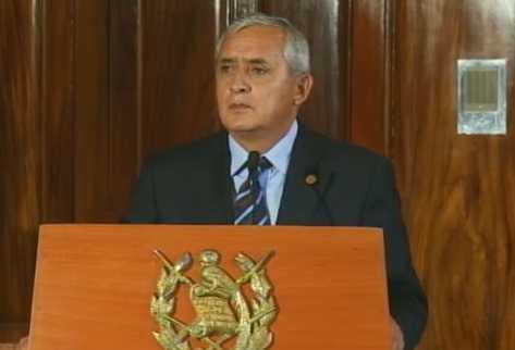 Presidente Otto Pérez Molina durante la conferencia de prensa. (Foto Prensa Libre: Internet)
