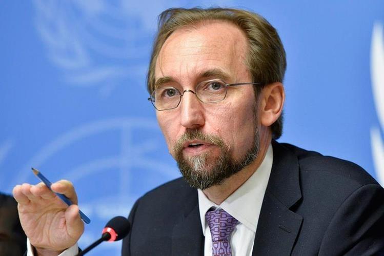 El alto comisionado de las Naciones Unidas para los Derechos Humanos, Zeid Ra'ad Al Hussein (Foto Prensa Libre:Hemeroteca PL)