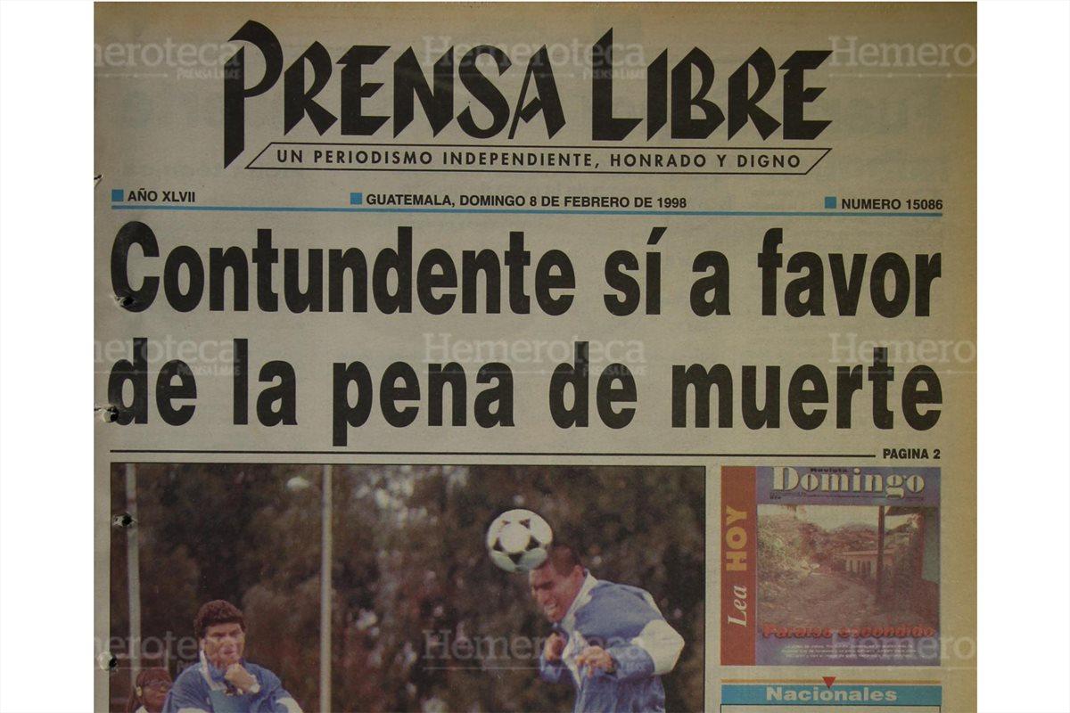 1998: guatemaltecos dicen sí a la pena de muerte