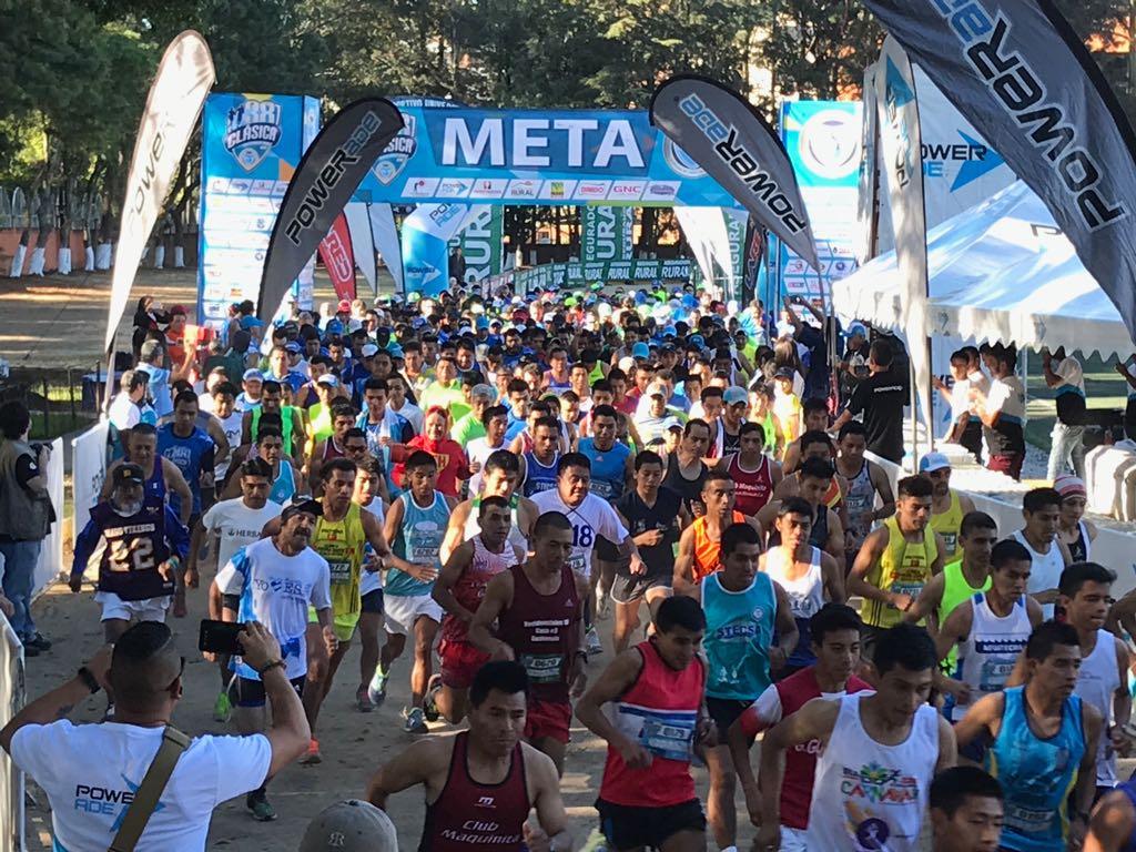 Cientos de corredores participaron en la edición 38 de la Clásica de la ACD. (Foto Prensa Libre: Cortesía ACD)