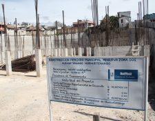 La construcción del mercado municipal Minerva 2, Huehuetenango, está abandonada. (Foto Prensa Libre: Hemeroteca PL)