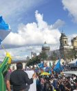 El Centro Histórico es escenario nuevamente de múltiples protestas, unas en contra del mandatario Jimmy Morales y otra a a favor, debido a su intento de sacar del país al comisionado de la Cicig Iván Velásquez. (Foto, Prensa Libre: Hemeroteca PL)