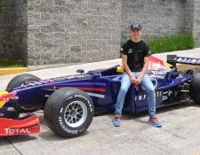Ian Rodríguez disfruta de unos días de descanso durante la pausa en la Fórmula 4 italiana (Foto Prensa Libre: Gloria Cabrera).
