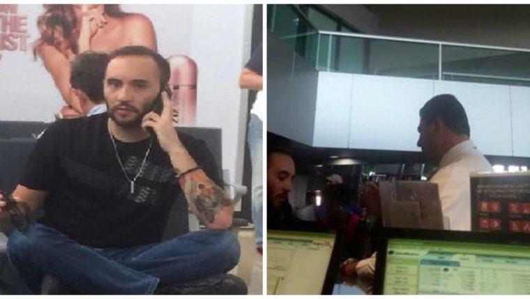 Lectores comparten con La Hora una foto de Luis Pedro Paz Baldetti, hijo de la exvicepresidenta Roxana Baldetti, en el aeropuerto La Aurora. (Foto Prensa Libre: redes sociales)