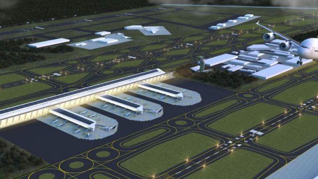 Según sus cálculos, la cancelación del NAIM y la construcción de la terminal en Santa Lucía representará un ahorro de 100 mil millones de pesos, unos US$5 mil millones. LOPEZOBRADOR.ORG