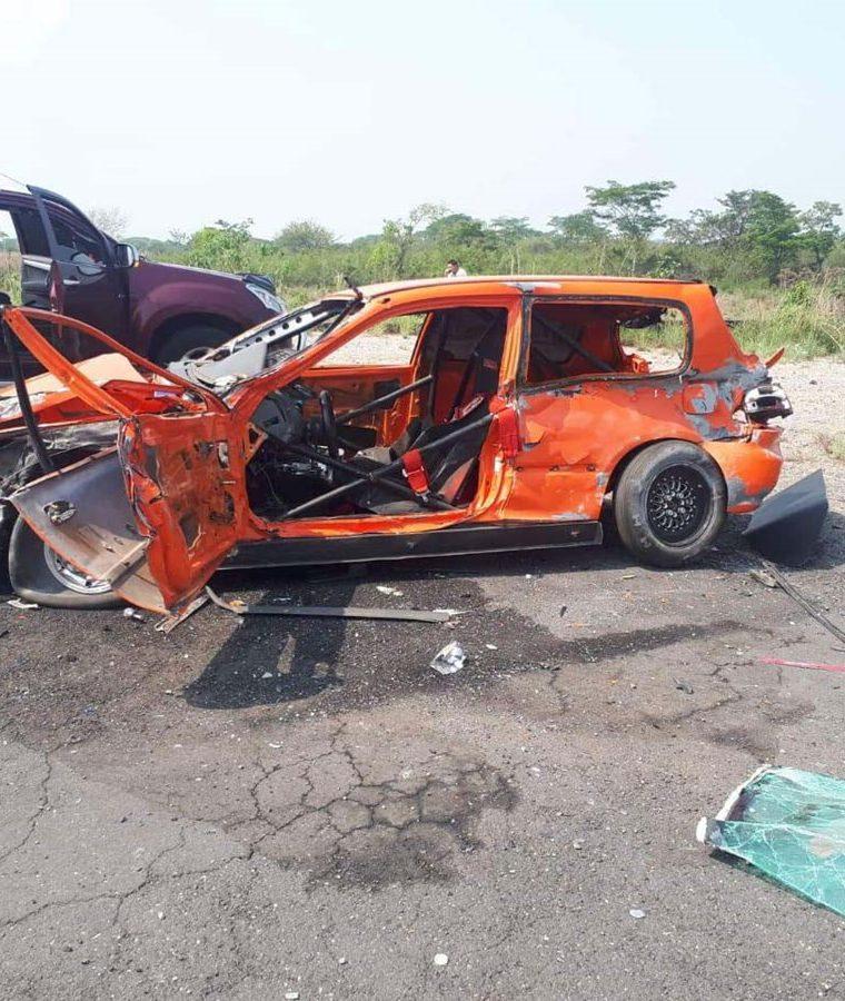 El accidente tiñe de luto el automovilismo centroamericano. (Foto Prensa Libre: cortesía Carlos Pineda)