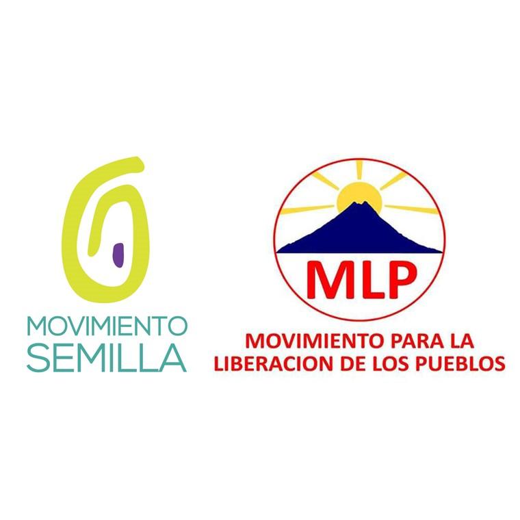 Los logos de los partidos Movimiento Semilla y Movimiento para la Liberación de los Pueblos.