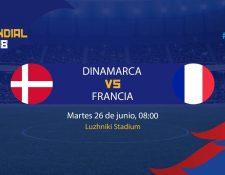 El poderoso equipo francés busca certificar su pase a siguiente ronda enfrentando a los daneses. (Foto Prensa Libre: TodoDeportes)