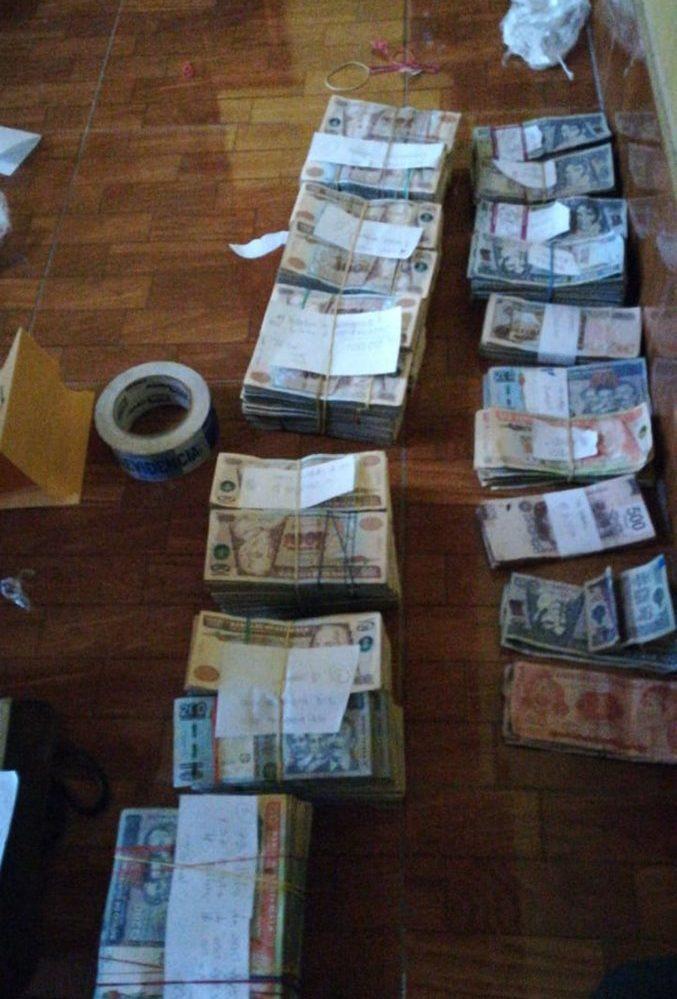 El dinero incautado a Pinto. (Foto Prensa Libre: MP)