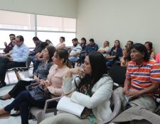 Sala de audiencia del juicio que se sigue por el Caso Botín Registro de la Propiedad. (Foto Prensa Libre: Óscar Rivas).