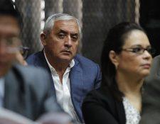 El expresidente Otto Pérez Molina, durante la audiencia del caso La Línea.(Foto Prensa Libre:Paulo Raquec)