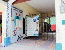 Centro de Salud de la ciudad de Jutiapa permanece sin servicio de consulta externa a causa de la protesta de salubristas. (Foto Prensa Libre: Óscar González)