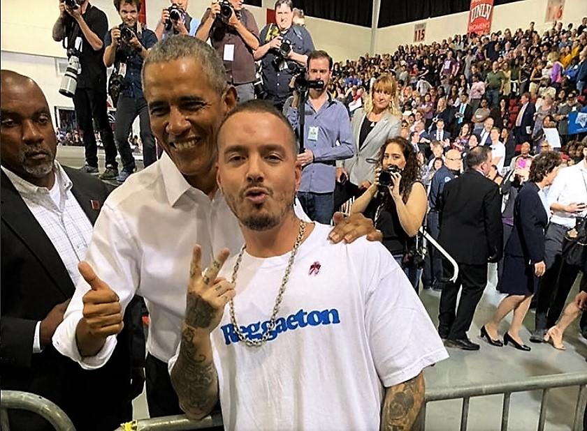 Barack Obama dijo que ama a J. Balvin y al reguetón. (Foto Prensa Libre: Facebook)