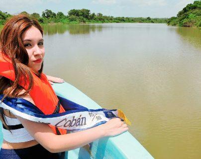 Señorita Cobán visita Sayaxché en apoyo a comunidades afectadas por desastre ecológico