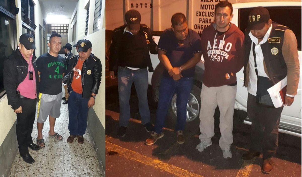 Agentes de PNC capturados por extorsión y secuestro