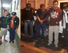 Dos agentes de la PNC y un oficial segundo son investigados por varios delitos como secuestro y extorsión. (Foto Prensa Libre: Cortesía)