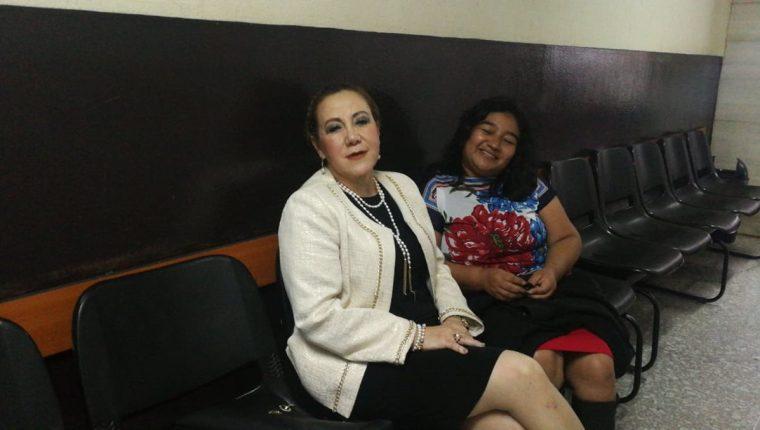 Blanca Stalling, magistrada separada de la CSJ, durante una comparecencia judicial.  (Foto Prensa Libre: Hemeroteca PL)