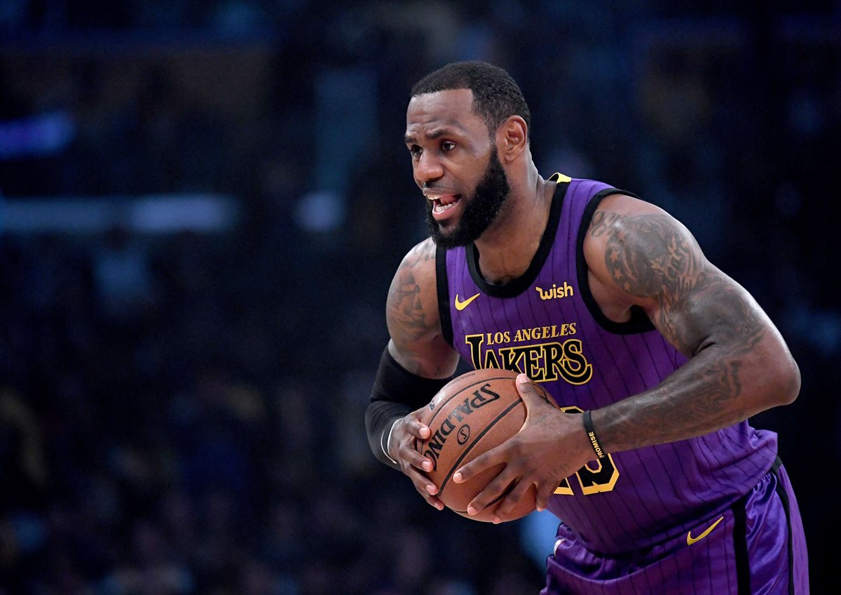 LeBron James, jugador de Los Ángeles Lakers. (Foto Prensa Libre: AFP)