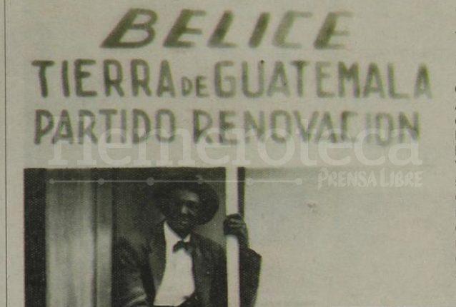 Gabriel Joshua Adderley encabezó el Movimiento Progresista de Beliceños y Negros, a favor de la reincorporación de Belice a Guatemala. (Foto: Hemeroteca PL)