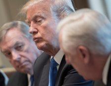 Donald Trump dijo que se malinterpretó la declaración ofrecida en relación a El Salvador y Haití. (Foto Prensa Libre: AFP)
