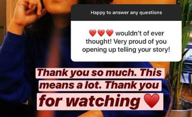Arooj Aftab recibió respuestas muy positivas de sus seguidores, a los que dio las gracias en Instagram. (AROOJ AFTAB)
