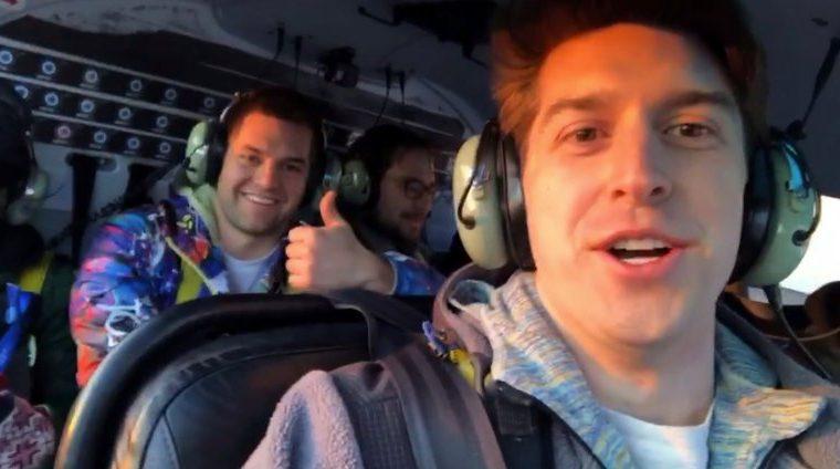 Imagen grabada segundos antes de que ocurriera el accidente aéreo en Nueva York que dejó cinco muertos el 11 de marzo último. (Foto Prensa Libre: Instagram Trevor Cadigan)