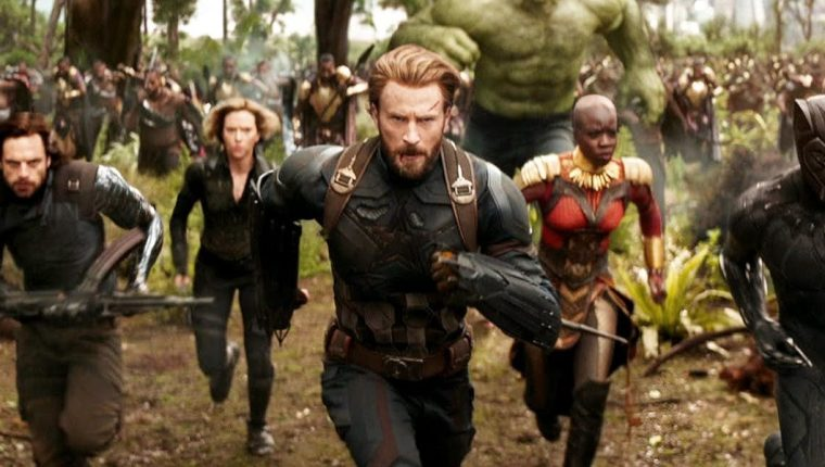 Chris Evans, como el Capitán América en Avengers: Infinity War (Foto Prensa Libre: Marvel Studios).