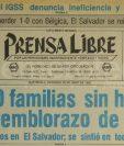 Titular de Prensa Libre del 20 de junio de 1982. (Foto: Hemeroteca PL)
