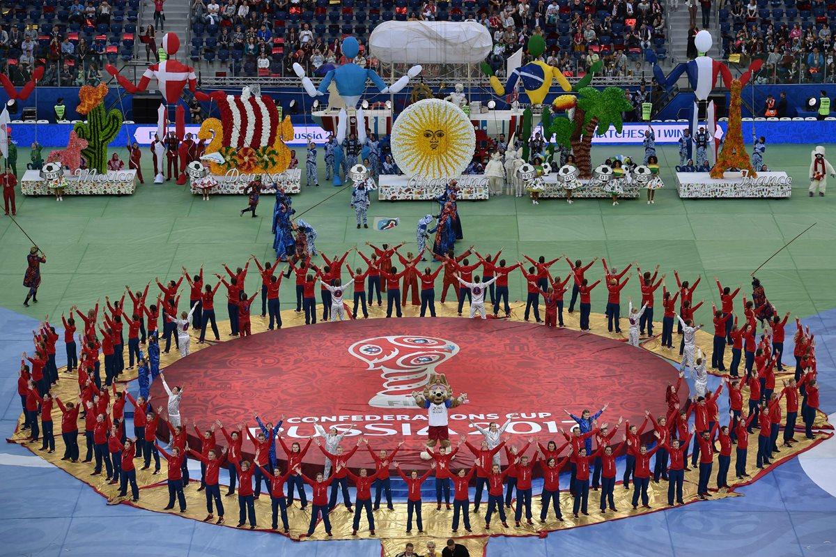 """La Roja se moja"": los colores de Chile tiñen San Petersburgo"