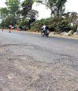 Carretera en el kilómetro 177 de la CA-2 cuenta con daños. (Foto Prensa Libre: Hemeroteca)