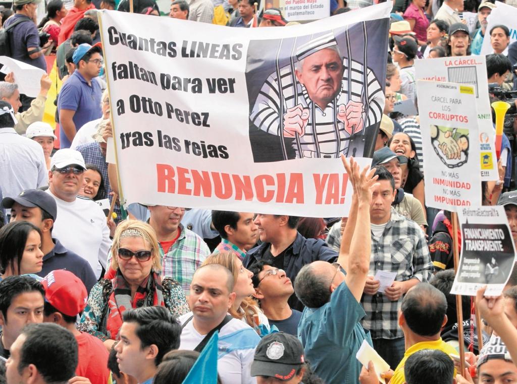 Se cumplen dos años de la primera manifestación contra el gobierno de Otto Pérez