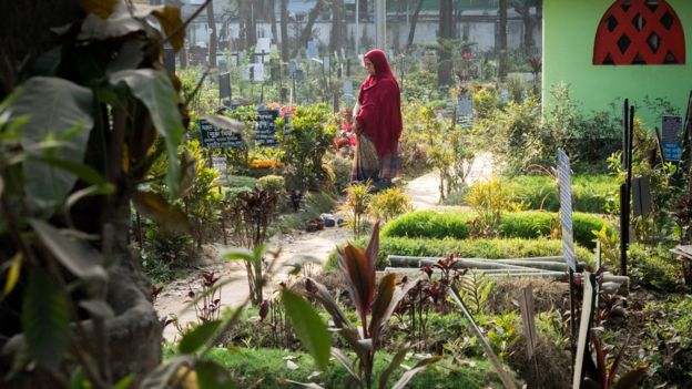 Los familiares se quedan sin lugares donde visitar a los seres queridos que han fallecido. (Foto: Amirul Rajiv)