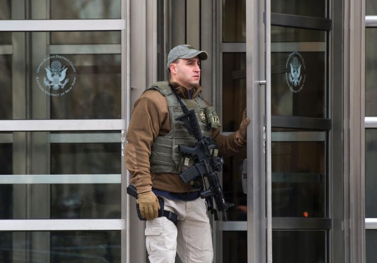 """Las audiencias de """"El Chapo"""" Guzmán en la corte de Brooklyn han tenido una seguridad reforzada. AFP"""