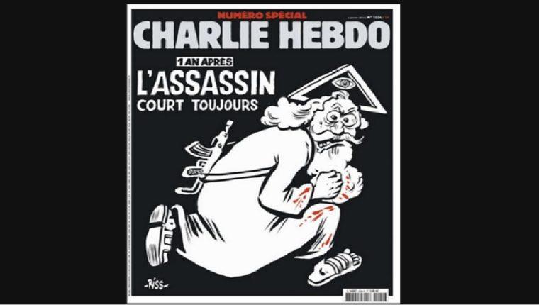 Porta del próximo miercoles del semanario <em>Charlie Hebdo.</em>