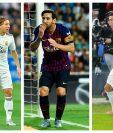 (Luka Modric, Lionel Messi y Cristiano Ronaldo, entre los favoritos para ganar el Balón de Oro. Foto Prensa Libre: EFE y AFP).