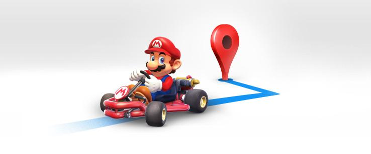 Google y Nintendo se aliaron para habilitar una función en Google Maps en compañía de Súper Mario