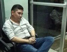 Byron Amézquita Galindo fue trasladado a la Torre de Tribunales para conocer el proceso en su contra. (Foto Prensa Libre: PNC)