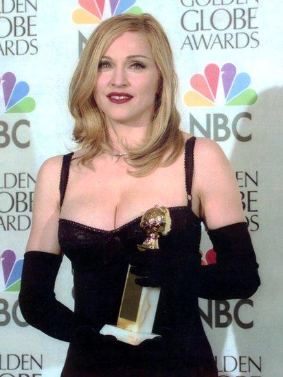 """Madonna ganó el Globo de Oro a mejor actriz de comedia o musical por su interpretación en """"Evita"""" (1997). GETTY IMAGES"""