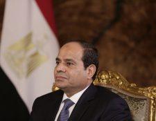 El presidente egipcio Abdel-Fattah el-Sissi, durante una conferencia de prensa en El Cairo. (Foto Prensa Libre: AP).