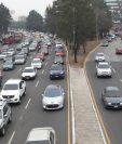 Uno de los ejes ayudaría a descongestionar el tránsito vehicular de la calzada Roosevelt hacia El Trébol. (Foto Prensa Libre: Hemeroteca PL)