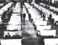 Los edificios públicos se convirtieron en hospitales para poder atender a los enfermos. Crédito: ALAMY