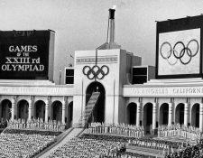El Colise de Los Ángeles mientras albergó los Juegos Olímpicos de 1984. (Foto Prensa Libre: AP)