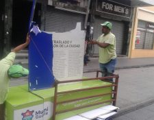 Los daños fueron ocasionados la madrugada del sábado. (Foto Prensa Libre: cortesía.)